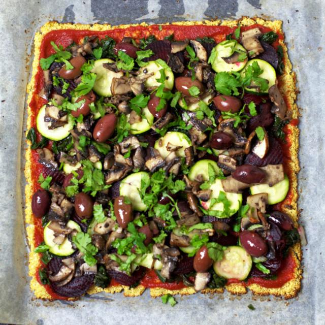 Vegan Cauliflower Pizza Crust Oliviabudgen Blog
