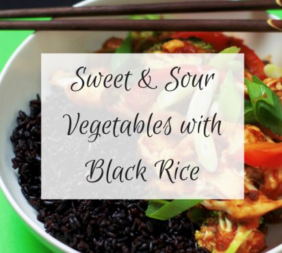 Sweet and Sour Vegetables with Black Rice