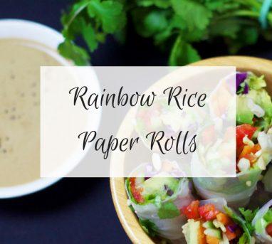 Rainbow Rice Paper Rolls