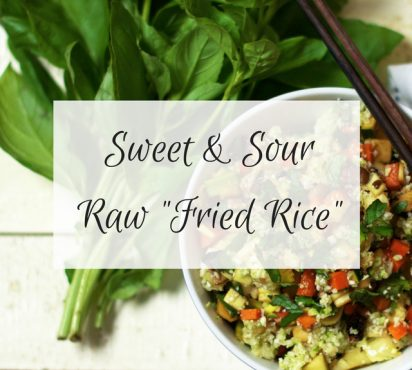 """Raw Sweet and Sour """"Fried Rice"""""""