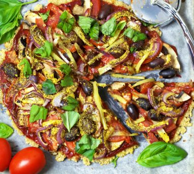 One Ingredient Brown Rice Pizza Base