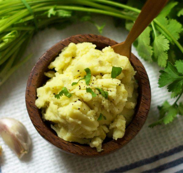 Easy Mashed Potatoes Vegan Oliviabudgen Blog