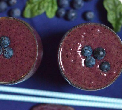 Healthy Breakfast Blueberry Smoothie