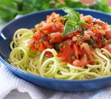 Zucchini Noodles with Spicy Chipotle Tomato Sauce
