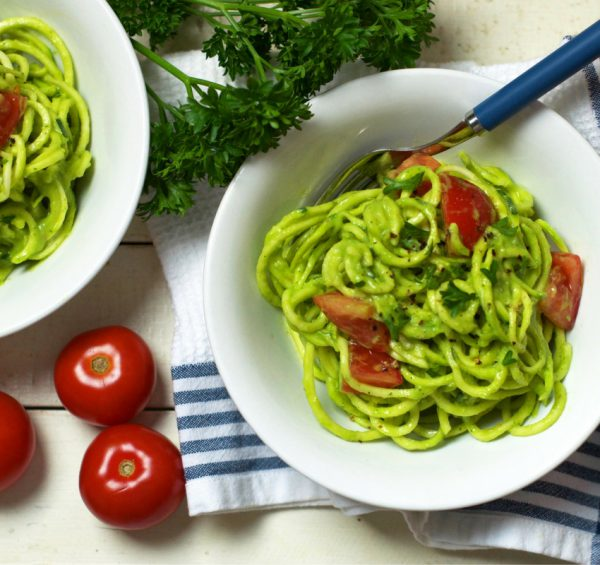 Zucchini Pasta with Creamy Avocado Parsley Sauce Oliviabudgen Blog