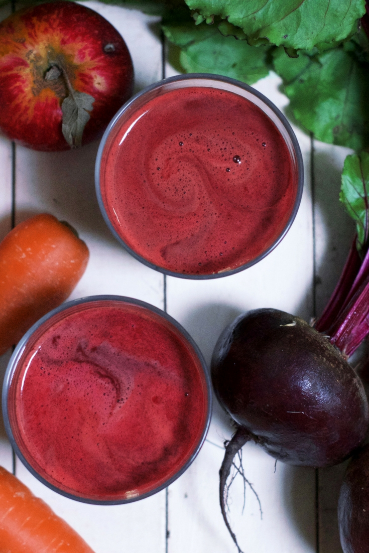 Apple Carrot Beetroot Ginger Juice Olivia Budgen Blog