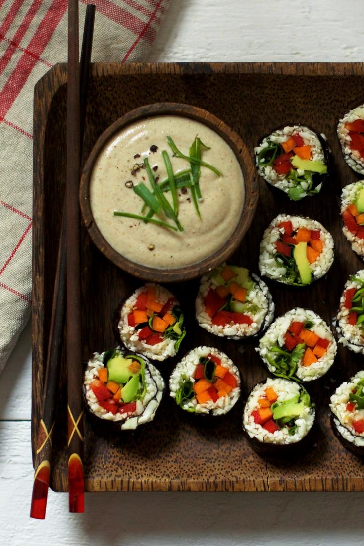 Raw Vegan Cauliflower Rice Sushi Olivia Budgen Blog
