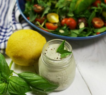 Tahini Hemp and Basil Dressing (NUT-FREE)