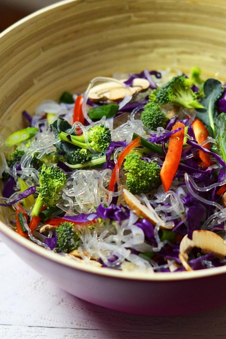Curried Almond Noodle Salad Olivia Budgen Blog