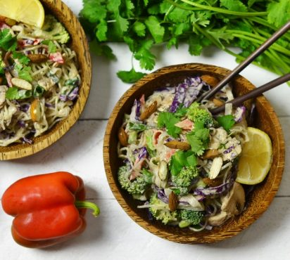 Curried Almond Noodle Salad