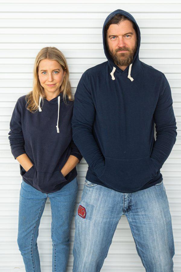Organic Cotton Navy Hoodie